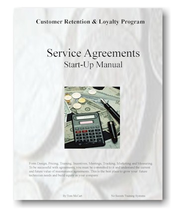 Service Agreements Startup Manual