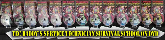 TEC DADDY'S SERVICE TECHNICIAN SURVIVAL SCHOOL DVD