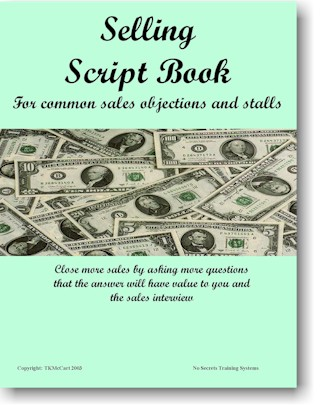 Selling Script Book for common Sales Objections and Stalls
